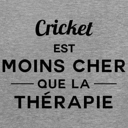 Cricket est moins cher que la thérapie - Femme T-Shirt - 14 couleur Gris