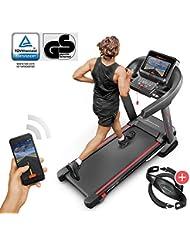 Sportstech F37 Profi Laufband-Deutsche Qualitätsmarke- Selbstschmiersystem,APP Kinomap, 7PS bis 20 km/h . Bluetooth MP3, HRC- Klappbar, große Lauffläche, TÜV/GS, Pulsgurt im Wert von 49,9EUR, bis 150 Kg