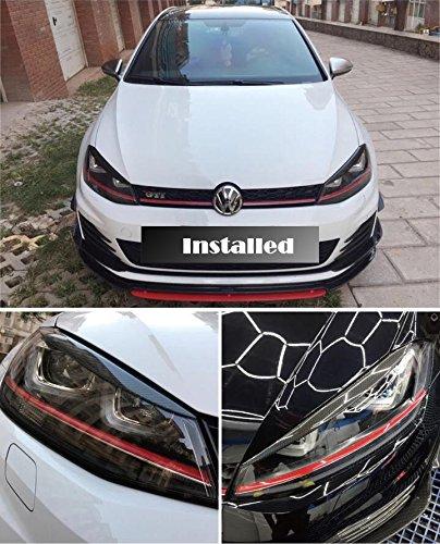 Pinalloy - Juego de 2 faros delanteros de fibra de carbono para VW MK 7