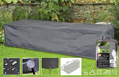 Boni-Shop Deluxe Abdeckhauben für Gartenmöbel Schutzhüllen (Liege,ca200x75x45)