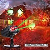 Luces de Proyección Navidad Proyector de la Navidad LED Iluminación de Paisaje IP65 Impermeable Lámpara Luz Efecto Movimiento para el día de Acción de Gracias, el Cumpleaños y la Decoración del Jardí