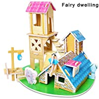 Alaojie 3D Puzzle Foam DIY Fun Board Early Learning Architectural House for Children Boys Girls Children