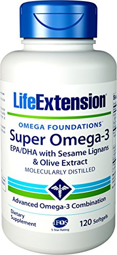 Life Extension, Super Omega-3 EPA/DHA mit Sesamlignanen und Olivenextrakt, 120 Weichkapseln