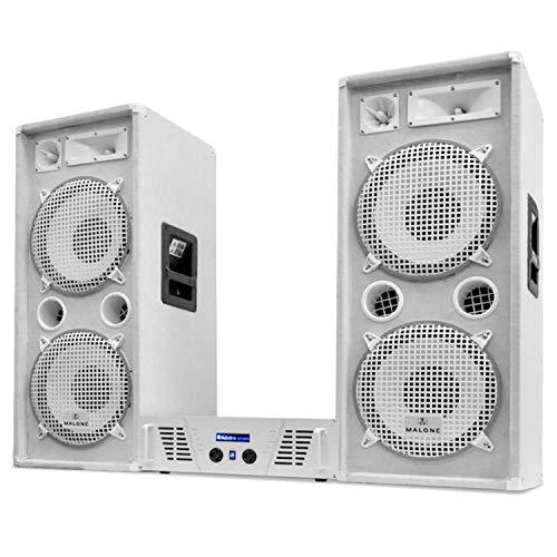 Impianto sistema set dj pa 2 casse 2000W amplificatore