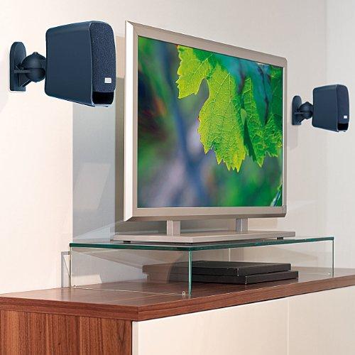 auvisio Kompakt-Halterung für Satelliten-Lautsprecher im 4er-Pack - 4