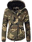 Navahoo Damen Baumwoll-Jacke Winterjacke Goldengel Camouflage Gr. S