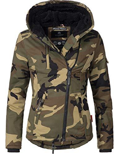 Navahoo Damen Baumwoll-Jacke Winterjacke Goldengel Camouflage Gr. L