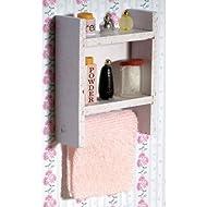 The Dolls House Emporium Bianco Scaffale con Accessori bagno
