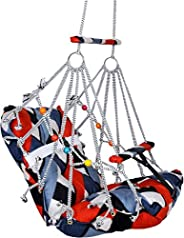 Luxafare Cotton Swing for Kids Baby's Baby Jhula Washable 1-3 Years with Safety Belt Home Garden Jhula for