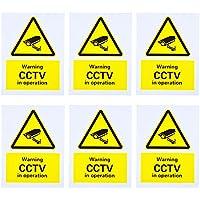 CCTV Seguridad Warning Sign, Señal de Peligro, Advertencia Señal Monitoring Security Cameras Sign , Rigid Plastic, 150 x 200 mm, 6 Pack