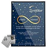 Geschenke 24: Sternschnuppe kaufen - Echte Meteorite hier als romantisches Geschenk bestellen - Persönliche Geschenke für Frauen & Männer (Stein 4-6 g Blanko Urkunde)