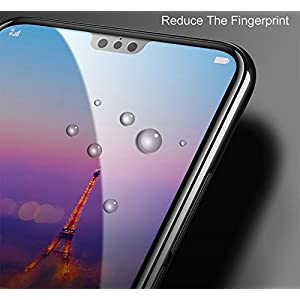 Higar New 0.3mm Full Cover 3D Edge Curved Screen to Screen Fit Full Tempered Glass for Huawei P20 Pro (Black Edges)