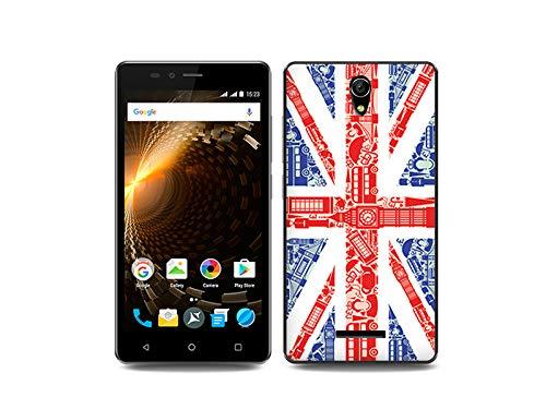 etuo Handyhülle für Allview P6 Energy Lite - Hülle, Silikon, Gummi Schutzhülle Fantastic Case - Britische Flagge