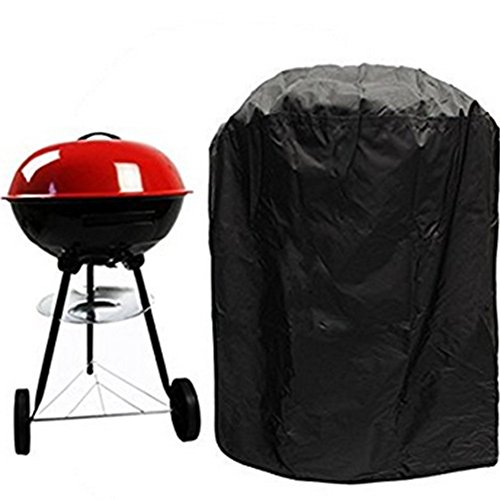 Da.Wa Runder wasserdichter BBQ Grillbezug Fit für Wasserkocher Sytle -Barbecue Grill Gas Covers Outdoor Indoor Protector (Barbecue Covers) 30.3x22.8 Zoll -