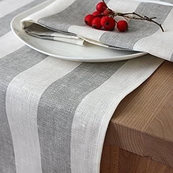 Tischläufer - Läufer - Tischband - Tischtuch - 100% Leinen