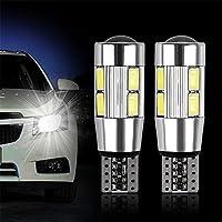 ZHUOTOP Bombilla de luz blanca (2 unidades, T10, W5 W, 5630 LED, 10 SMD)