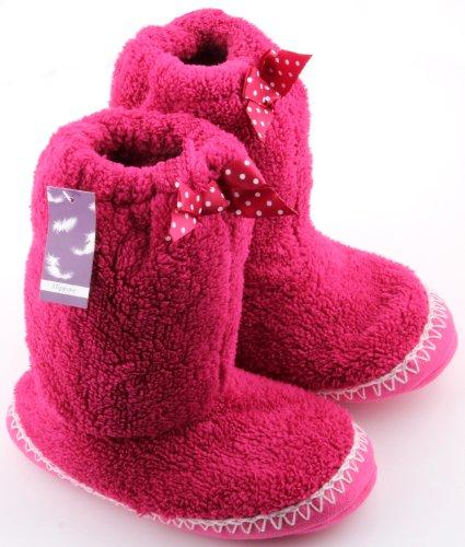 Rjm , Damen Hausschuhe Leuchtendes Pink