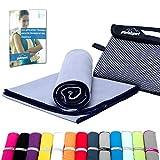Mikrofaser Handtuch Set - Microfaser Handtücher für Sauna, Fitness, Sport I Strandtuch, Sporthandtuch I 1x M(110x50cm) I Grau