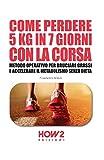 COME PERDERE 5 KG IN 7 GIORNI CON LA CORSA: Metodo Operativo per Bruciare i Grassi e Accelerare il Metabolismo Senza Dieta