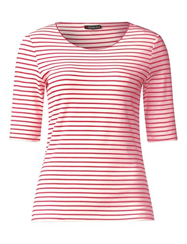 Street One Damen T-Shirt Mehrfarbig (Colada Pink 21263)