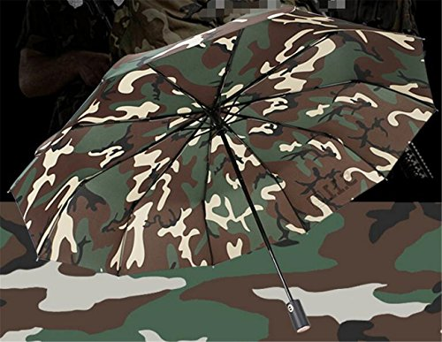 Sucastle Camuflaje Paraguas automática Plegable a Prueba de Viento Pa
