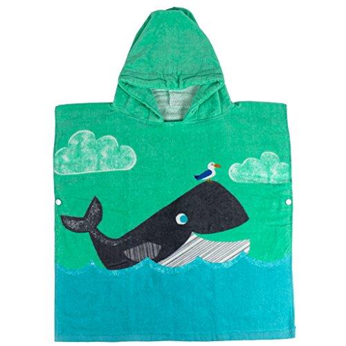 Kinder Kapuzen Bademantel Badetuch - Jungen Mädchen 100% Baumwolle Saugfähige Handtücher für Bad Strand Kinder Nachtwäsche Schlafanzug
