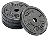 York Fitness Four Standard Cast Iron Disc Set - 5kg