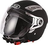 BHR Helm 709, Schwarz Matt, 61