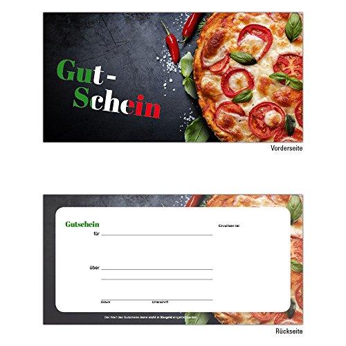 25 Pizza Pasta Gutscheine Gutscheinkarten Geschenkgutscheine – edel neutral taliener, Ristorante, Pizzeria, Gastronomie, Restaurant, Bar und Imbiss Pasta