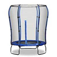 Rebo 4.5ft Safe Jump Trampoline with Safety Enclosure,137.2 x 137.2 x 189 centimeters