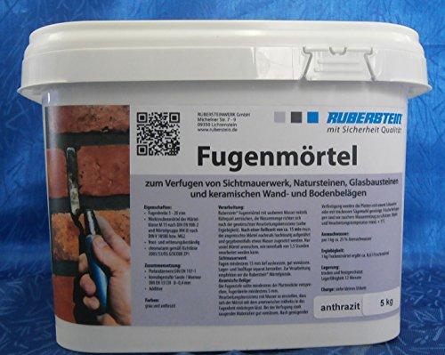 Ruberstein® Fugenmörtel anthrazit im 5 kg Eimer