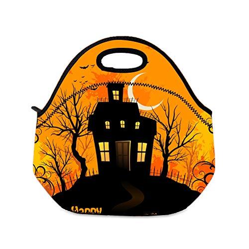 Lunchtasche für Mädchen, Halloween-Lunchbox, Picknick-Taschen, wiederverwendbar, für Damen und Kinder