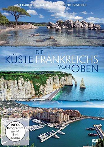 Die Küste Frankreichs von oben