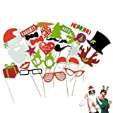 OUNONA Photo Booth Fotorequisiten Partybrillen party maskenDiy Kit Dress Up Kostüm Zubehör für Hochzeit Party Weihnachten 27pcs