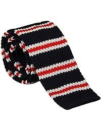 Tangda - Cravate en maille - Tricot fine - Homme- Soirée Businesse Mariage Cérémonie Déco Fête Costume Necktie