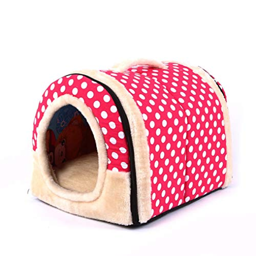 AMURAO Print Pet House Warm Hundebett Zwinger Matte Decke Katzen Kissen Sofa für Welpen Small Medium Large Dogs (Mädchen-liner Graue)