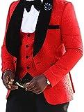 auguswu -  Giacca da smoking  - Uomo Red S
