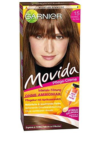 15 Creme (Garnier Tönung Movida Pflege-Creme, Intensiv-Tönung Haarfarbe 15 Dunkelblond, 3er Pack)