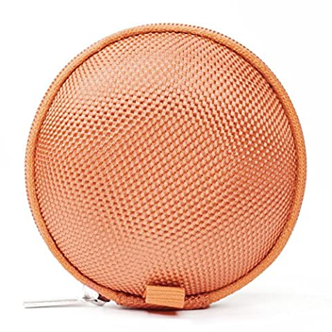 SODIAL(R) Earphone Headphone ipod Shuffle ipod NANO 6 Apple Watch Sport Gym Case Pouch orange