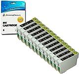12 SCHWARZ T0711H Druckerpatronen kompatibel für Epson Stylus D120 DX7400 DX7450 DX9400F SX205 SX210 SX215 SX218 SX405 SX410 SX415 SX515W SX600FW Office B40W BX300F BX310FN BX610FW - hohe Kapazität