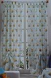 Generico Pannello Tenda Disney CONFEZIONATA in Velo Winnie The Pooh sulle Nuvole Colore Panna Art ID 922