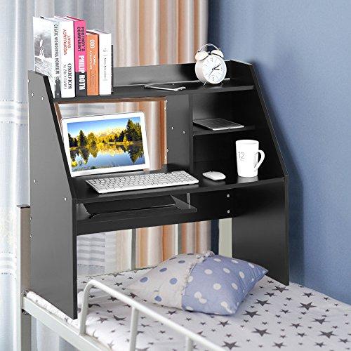 Holzregal Computertisch Laptoptisch Bürotisch Schreibtisch Perfekt verwendbar ist es im Bett der Studentenwohnheime oder zu Hause (Schwarz) (Multi-funktion-laptop-tisch)