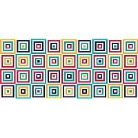 Tape Design 8056328002785Alfombra, Tela, Multicolor, 115x 65x 1cm