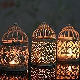 Homeofying Kerzenhalter zum Aufhängen, hohl, marokkanischer Stil, Laterne, Hochzeitsdekoration, Eisen, Style C