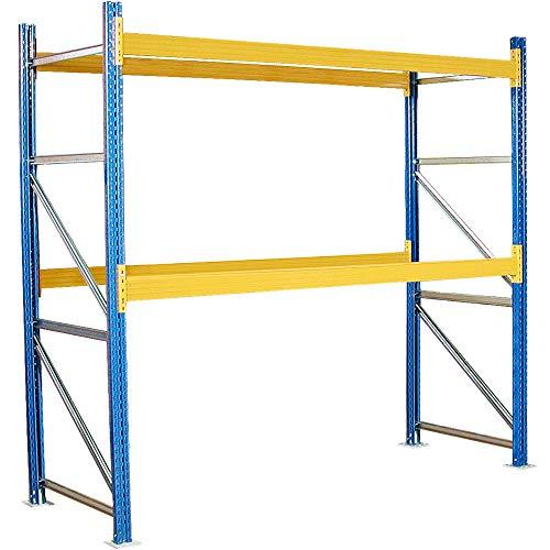 Palettenregal mit 2 Paar Tragbalken, Stecksystem, HxBxT 3000 x 2925 x 1100 mm, kunststoffbeschichtet, Fachlast 2600 kg/Tragbalkenpaar