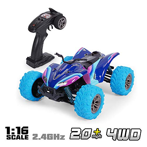 es Auto RC Auto 1/16 Skala 2,4 GHz 4WD Rennauto Monster Truck Spielzeug für Kinder ()