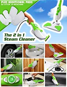 Eco Steam Master Steam Cleaner with Extra Pads as seen on PITCH TV