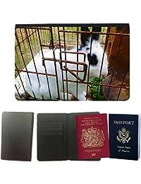 hello-mobile Couverture de passeport // M00136603 Conejo Animal Jaula // Universal passport leather cover