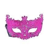 Scrox 1 Pieza Máscaras Venecianas Moda Hueco Colorido Máscaras Halloween Mujer,Hombre Vestidos de Fiestas de Niña Navidad Brillante Decoracion DIY (Púrpura)