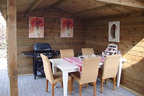 Fonteyn Gartenhaus/Blockhütte Anna Satteldach 720 x 360 cm Hochdruck imprägniert